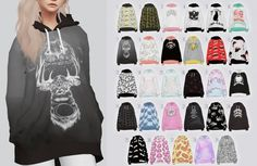 random patterned hoodies for The Sims 4 Sims 4 Mods, Sims 1, Maxis, Vêtement Harris Tweed, Cc Top, Sims4 Clothes, Sims 4 Dresses, Sims 4 Gameplay, Sims 4 Cc Packs