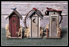 Fairy Outhouse  ********************************************  FoxSpecialty - #fairy #garden #gardens #miniature #miniatures #fairies #whimsical #whimsy #outhouse - tå√