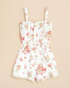 AQUA Girls' Floral Print Romper - Sizes S-XL | Bloomingdales's Birthday Outfit For Teens, Summer Outfits For Teens, Cute Outfits For Kids, Spring Outfits, Teen Clothing Brands, Top Clothing Stores, Tween Clothing, Clothing Ideas, Tween Rompers