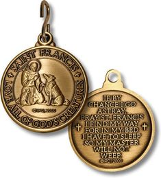 Saint Francis Love of all God's Creatures Religious Medal for your Beloved Pet Fundraiser Item
