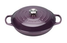 Le Creuset 26cm Shallow Casserole in Cassis.  Love different colours for their cast iron pots.