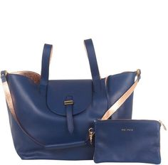 Meli Melo Bags Rose Gold / Navy Reversible Thela Bag
