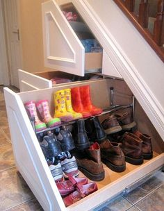 Decor:Shoe Storage Creative Under The Stairs Function Under The Stairs Drawers Compact Drawers Ideas Amazing Functionality of the Small Space Under the Stairs