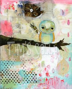 """""""When the first baby laughed for the first time, the laugh broke into a thousand pieces and they all went skipping about; and that was the beginning of fairies. And now when every new baby is born its first laugh becomes a fairy."""" - James Matthew Barrie [Dewdrop mixed media art print by Mindy Lacefield by timssally, $18.00]"""