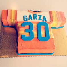 Vintage Astro's Jersey Cake by 2tarts   New Braunfels, TX   www.2tarts.com  .Lil bro's 30th bday cake-red velvet-so yummy!