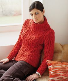 40 best wool plus images on pinterest knit stitches crochet ladies cable knit sweater in fandeluxe Image collections