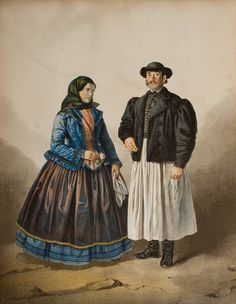 Makói népviselet,   1850  - Hungary