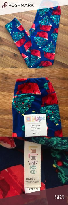 LuLaRoe Christmas Leggings NWT. Sold Out Everywhere!!! Christmas Cupcake Leggings. Size Tween. Super fun and adorable. What little girl doesn't love Christmas & Cupcakes LuLaRoe Bottoms Leggings
