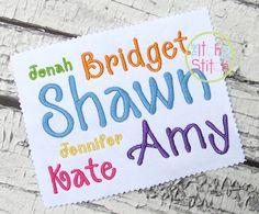 Best embroidery fonts script images applique designs