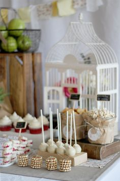 This beautiful party makes you feel as though you have stumbled upon the loveliest picnic in the countryside! Cristina, of Nice Party, in Spain styled this… 24th Birthday, Birthday Parties, Ben E Holly, Sweet Buffet, Sweet Tables, Spearmint Baby, Festa Party, Party Party, Childrens Party
