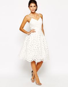 Chi Chi London Full Midi Prom Cutwork Dress. Would love if was lace instead of broderie anglaise