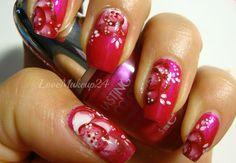 """Tutorial Nail Art - """"One Stroke"""" in Pink! - Tentazione Unghie"""