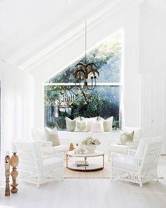 Latest window designs Home Remodels Latest Window Designs, Dulux White, Three Birds Renovations, Colored Ceiling, Beach Shack, Dining Room Lighting, Dream Decor, Mid Century Design, Modern Interior Design