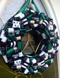 Philadelphia Eagles Wreath by WeHaveWreaths on Etsy -hubby would love this for football season!