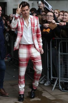 Harry Styles is Doing 70s Game Show Host Cosplay at BBC Broadcasting House in London