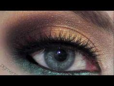 Romantic Gold & Teal Date Makeup Tutorial using Makeup Geek Cosmetics