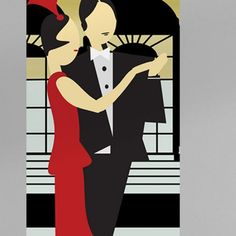 Mural ATADesigns Clyde and Grace – Art Deco Mural