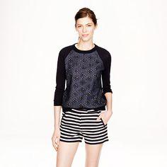 J.Crew+-+Textured+stripe+short
