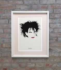 Robert Smith Hair The Cure Lyrics Minimalist by Posteritty