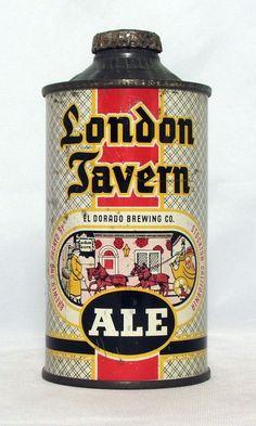 RARE London Tavern Ale 12 oz Low Profile Cone Top Beer Can Stockton CA   eBay
