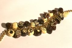 Polymer clay chocolates - Charm Bracelet | Flickr - Photo Sharing!