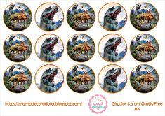 Jurassic World, Dinosaur Birthday Party, Birthday Parties, Edible Printing, Decorative Plates, Christmas Tree, Prints, Pom Poms, Printable Stickers