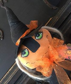 Witch Doll,Primitive Witch Doll, Witch, Halloween Doll,Primitive Doll, Folk Art Witch Doll, OOAK Witch Doll, Handmade Witch Doll,Primitives Halloween Tags, Halloween Doll, Halloween Decorations, Wooden Pumpkins, Fall Pumpkins, Wooden Rabbit, Primitive Doll, Orange Glitter, Pumpkin Faces