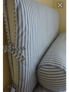 slipcovers-ideas- great way to change a headboard with little money! Headboard Cover, Bookcase Headboard, Diy Fabric Headboard, Headboard Ideas, Slipcovered Headboard, Slipcovers, Headboards For Beds, Sofa Covers, Decoration