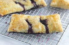 Handheld Blueberry Pie recipe. #food