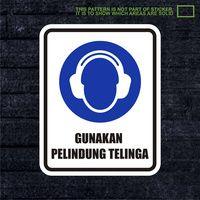 WSKPC061 Sticker Safety Sign Warning Sign Gunakan