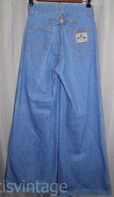 Vintage-Levis-70s-High-Waist-Wide-Leg-Flare-Bell-Bottom-Talon-42-Denim-Jeans-Vtg