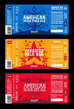 Cool Illustrated Beer Labels for Wrezel Brewery -You can find Beer labels and more on our website.Cool Illustrated Beer Labels for Wrezel Brewery - Food Packaging Design, Beverage Packaging, Bottle Packaging, Packaging Design Inspiration, Coffee Packaging, Craft Beer Labels, Wine Labels, Craft Bier, Brewery Design