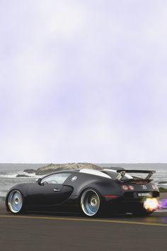 Matte Black Bugatti Veyron