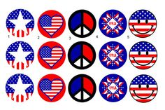 Fourth of July Independence Day 1 inch Pinback by HappyDogButtons