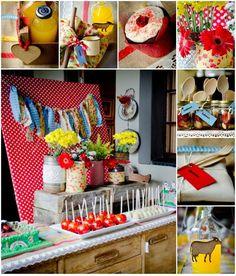 Vintage Farm Party with REALLY CUTE IDEAS via Kara's Party Ideas