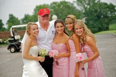 A lovely wedding in #Bedminster #NewJersey crashed by #TheDonald himself! Congratulations to Jackie and Scott! #NJBride