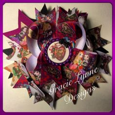 Ever After High #3 Inspired Over the Top Boutique Bow, Princess Bow Hairbow Clip