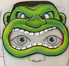Face Painting Designs, Paint Designs, Tvar, Hulk, Art For Kids, Make Up, Superhero, Children, Face Paintings