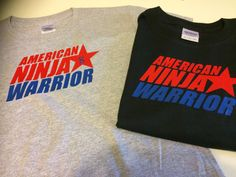 American Ninja Warrior T-Shirts / party favors  kids shirts