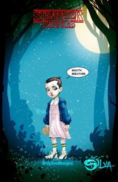 Eleven / Stranger Things by dsilvadesigns on Etsy