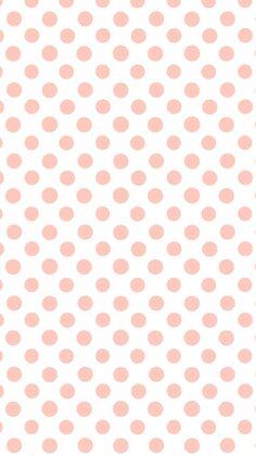 White coral peach polka dots spots  iphone wallpaper background phone  lock screen