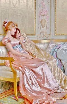 Lesbian Art, Gay Art, Classic Paintings, Old Paintings, Renaissance Paintings, Renaissance Art, Victorian Art, Classical Art, Pretty Art