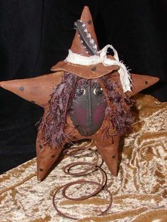 Primitive Witchy Makedo on a Bed Spring OFG Team by LaceyJane, $17.95