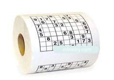 INFMETRY:: Sudoku Toilet Paper - Bed&Bath - Home&Decor Entertaining week end guests enjoy this!