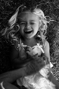 ☮ black & white photo laughter :), via Flickr.