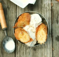 Goreng Pisang (Fried Banana Fritters with Vanilla Ice Cream)