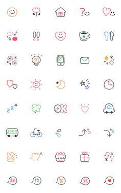 Useful adorable basic emoji 2 – LINE 이모티콘 Easy Doodles Drawings, Easy Doodle Art, Simple Doodles, Cute Doodles, Flower Doodles, Bullet Journal Banner, Bullet Journal Writing, Bullet Journal Ideas Pages, Bullet Journal Inspiration