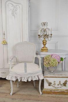 Antiques Français chaise w glisser la par FullBloomCottage sur Etsy