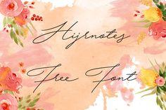 DLOLLEYS HELP: Hijrnotes Free Font