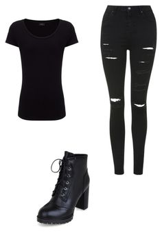 """Black casual"" by taliaiscoolok on Polyvore featuring Joseph and Topshop"